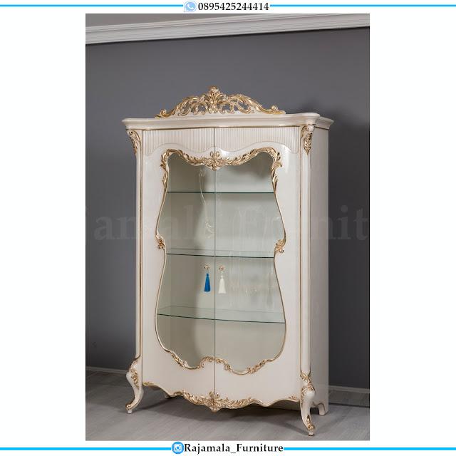 Adorable Style Lemrai Pajangan Kaca Mewah Luxury Carving White Duco Glossy RM-0479