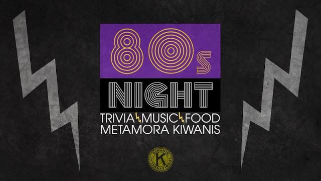 Kiwanis Fundraiser 80's Night Trivia, Metamora Herald