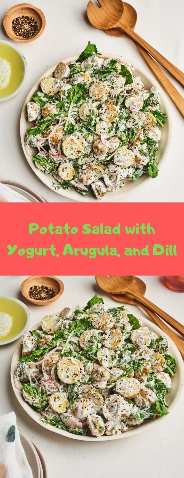 Potato Salad with Yogurt, Arugula, and Dill