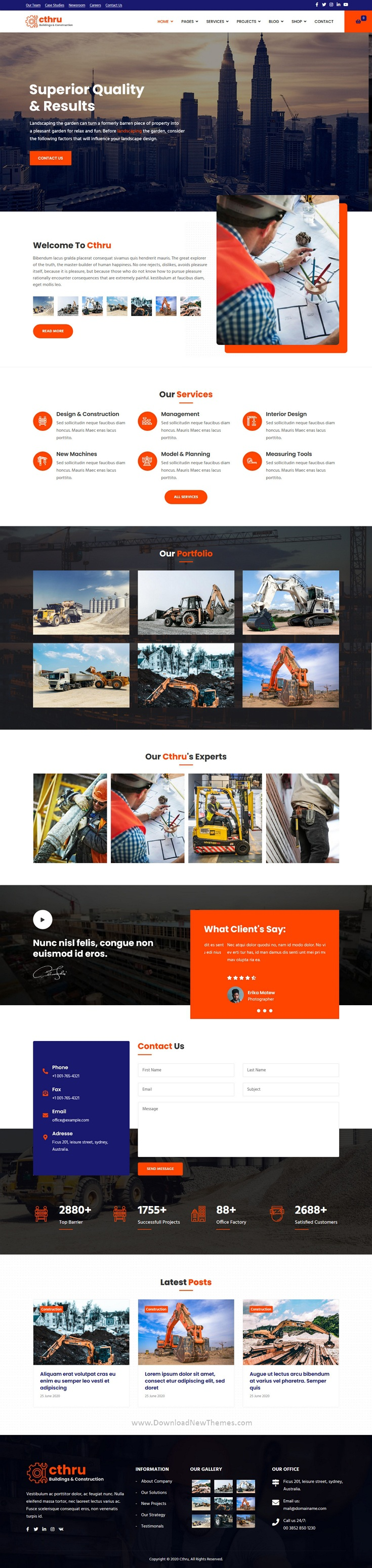 Construction and Building Business Joomla Template