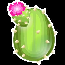 Das Erscheinen des Ei Kaktus-Drache