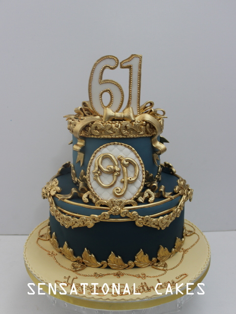 Cakes2share Singapore Royal Vintage Opulence Anniversary 3d Cake