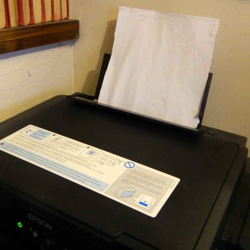 Estampar tela con impresora
