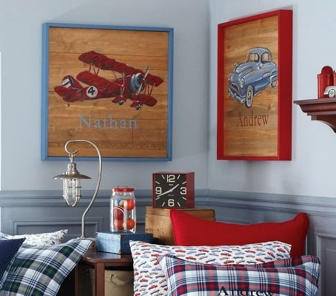 Inspired Passions Diy Pottery Barn Boys Room Plane Art