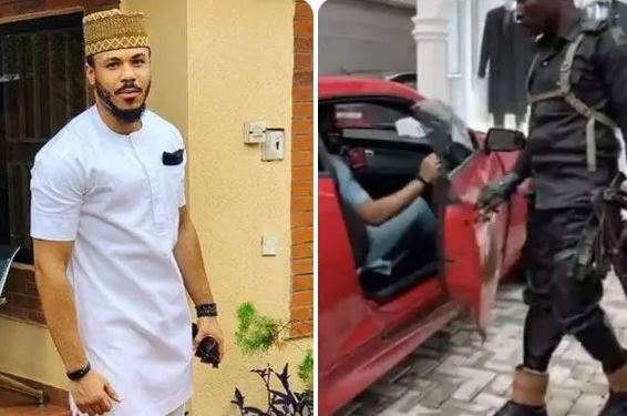 BBNaija: Nigerians Reacts As Police Officer Opens Car Door For Ozo