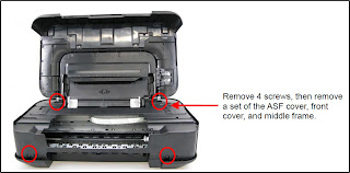 Partial replacement the ink absorber kit for Canon Pixma iP2700, iP2702, iP2770, iP2772, iP2780