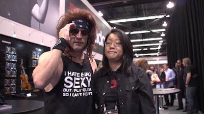 Steel Panther guitarist Satchel sexy shirt #PMRC PunkMetalRap.com