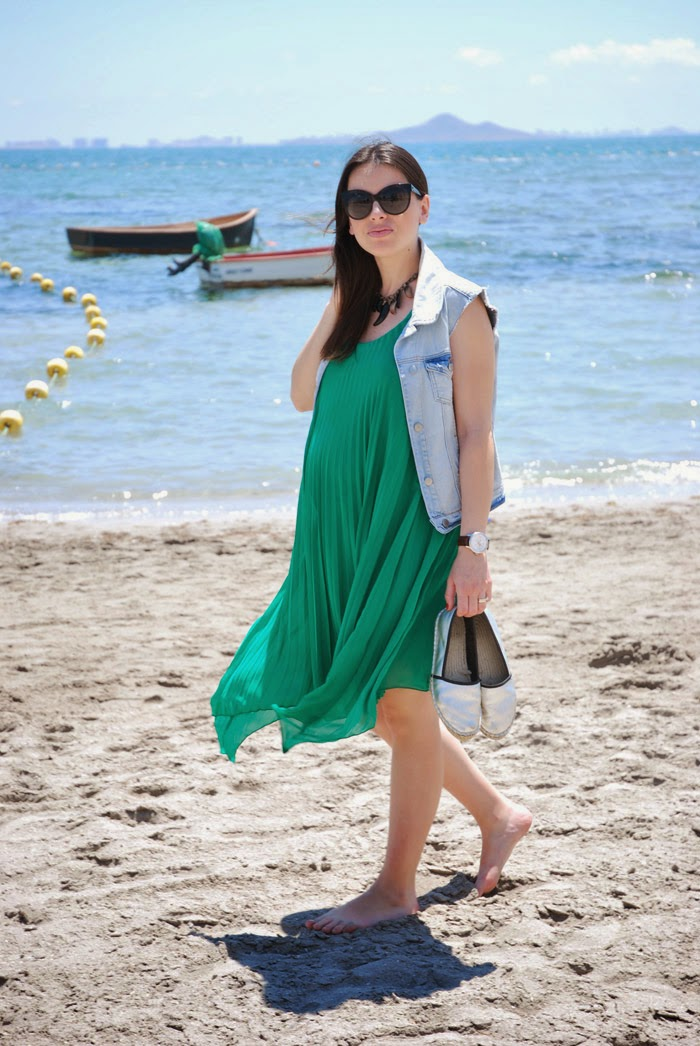 Pleated Dress Pregnant