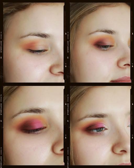 kolorowy makijaż krok po kroku
