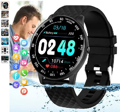 Peakfun Smart Watch,Fitness Tracker Watch with Heart Rate Blood Pressure Monitor