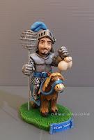 Statuetta cavaliere caricatura modellino personalizzato fatto a mano cavallo orme magiche