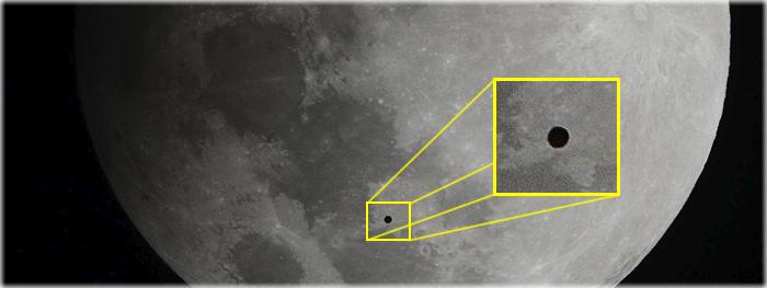OVNI durante eclipse lunar