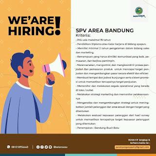 Lowongan Kerja SPV Parahyangan Bandung Juli 2020