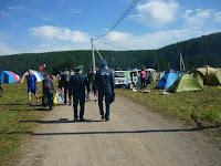 Осмотр палаточного лагеря