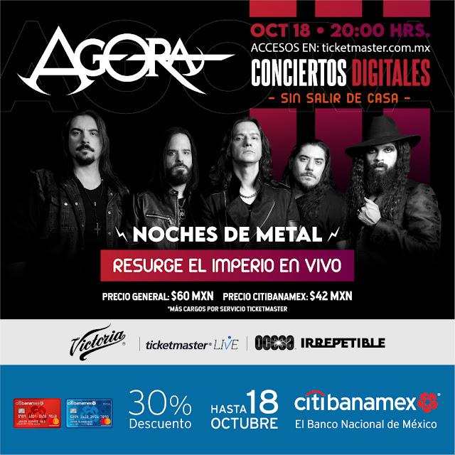 "Noches de Metal presenta ""Ágora"" en un show en streaming 'Irrepetible'"