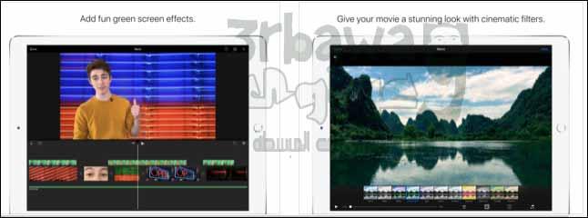 التطبيق الرابع:iMovie