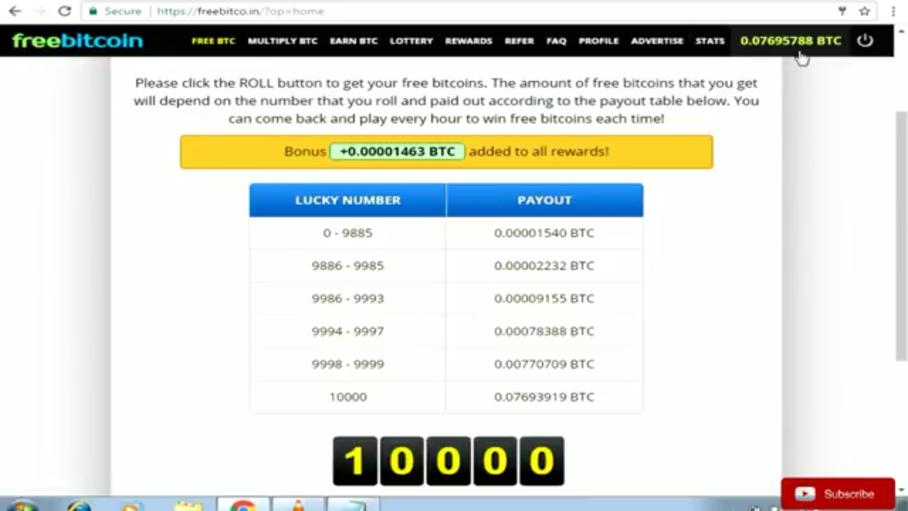 Freebitco in 10000 Script free download - Free Bitcoins Earning