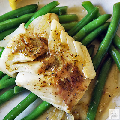 Poached Cod with Pesto Wine Sauce | by Life Tastes Good