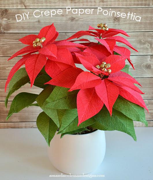 Diy crepe paper poinsettia i love making paper flowers i have been diy crepe paper poinsettia mightylinksfo