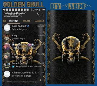 Golden Skull Theme For YOWhatsApp & Fouad WhatsApp By ALBERTO