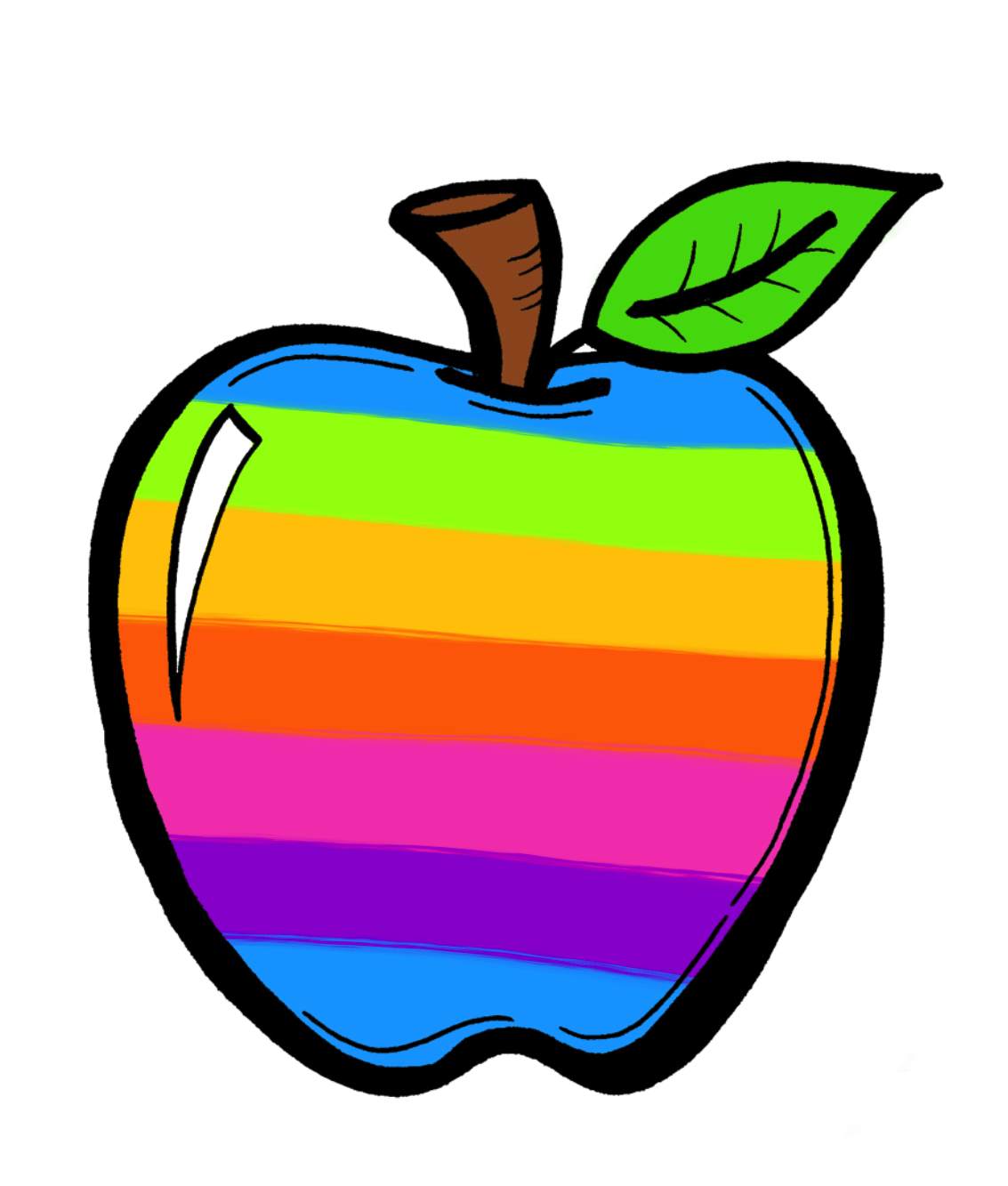 The Creative Chalkboard Free Rainbow Apples And New