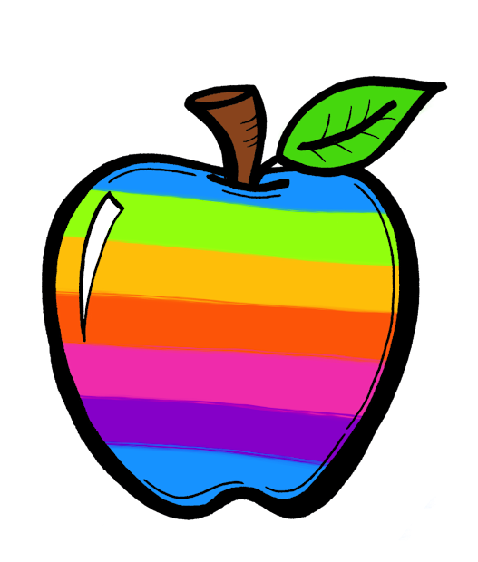 Creative Chalkboard Free Rainbow Apples And Clipart Sets Galore