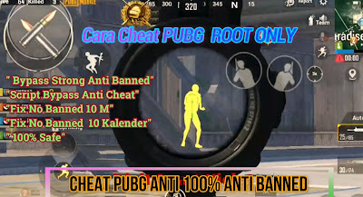 Cara Cheat PUBG Root Only Season 12 Terbaru 2020