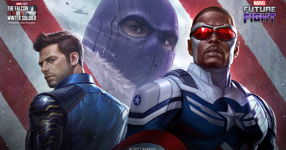 WIELD THE SHIELD IN NEW MARVEL STUDIOS' THE FALCON AND THE WINTER SOLDIER INSPIRED UPDATE FOR MARVEL FUTURE FIGHT