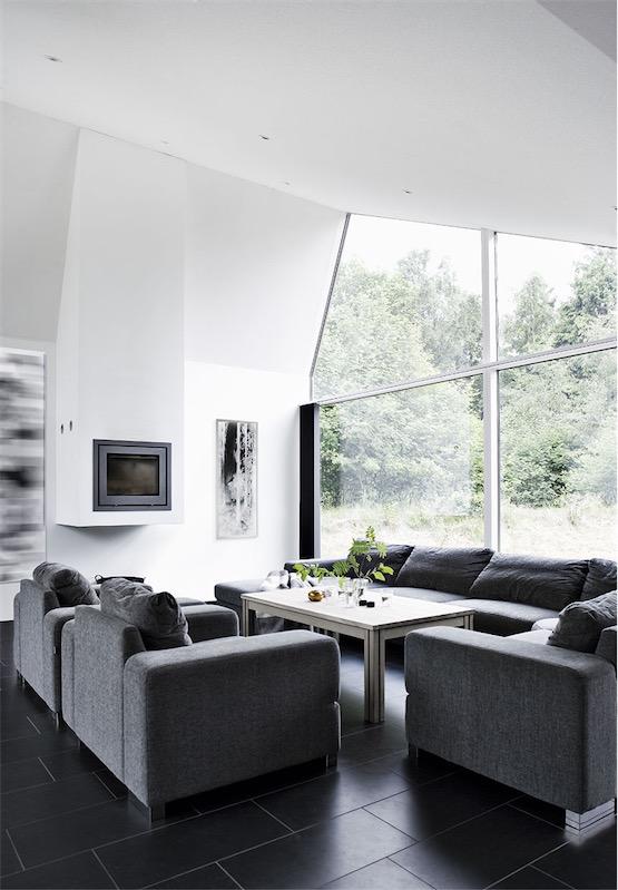 salon blanco y negro casa de diseño escandinava chicanddeco