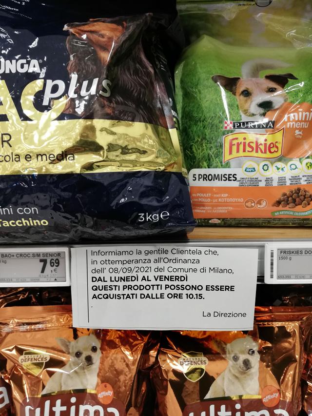 Esselunga. I msteri a Milano del cibo per cani e gatti