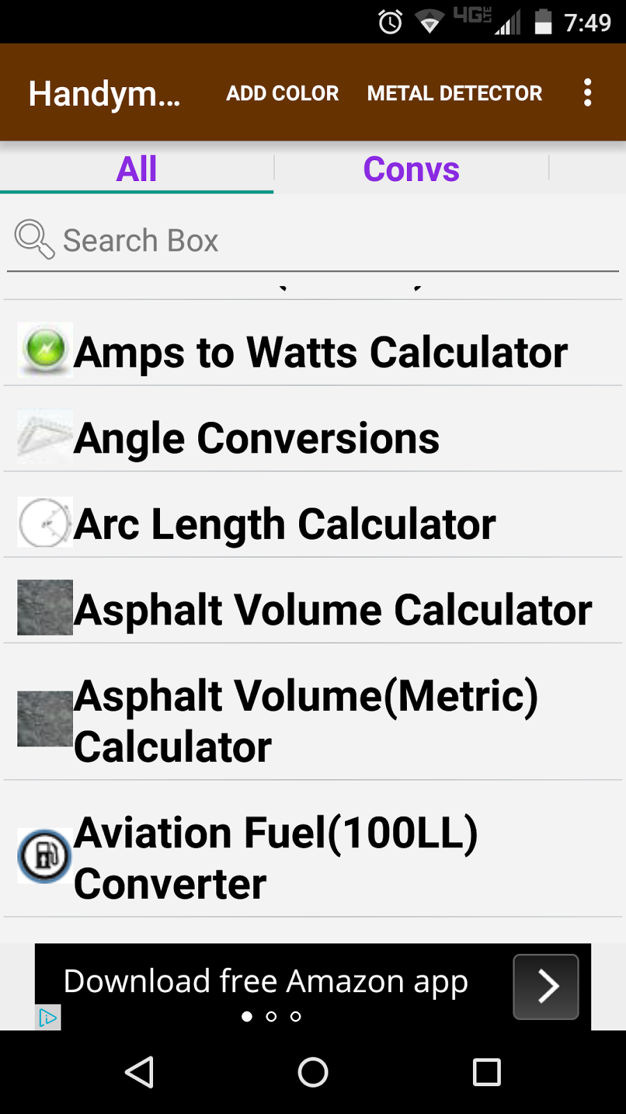 Eddie's Math and Calculator Blog: Handyman Calculator Android App Review