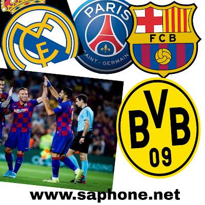 Chaînes de diffusion en direct de la Champion League d'Europe : Fc Barcelone, Real Madrid, Liverpool, Man city, PSG ...