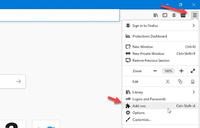 Cara mengaktifkan atau menonaktifkan add-on dalam Mode Pribadi di Firefox