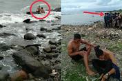 Viral Aksi Heroik 2 Pemuda Asal Mare Bertaruh Nyawa Selamatkan Orang Tenggelam di Barombong