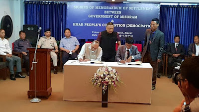 MEMORANDUM OF SETTLEMENT BETWEEN MIZORAM GOVT. AND THE HPC-D