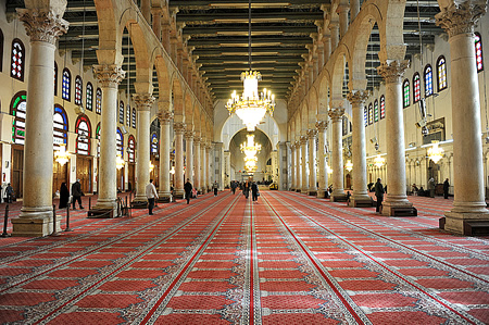 Interior of Umayyad mosque