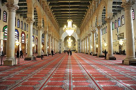 Interior of Umayyad mosque