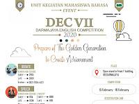 UKM Bahasa Darmajaya Gelar English Competition VII