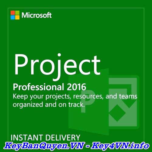 Bán key bản quyền Project Professional 2016 Full 32 và 64 Bit .