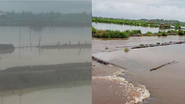 Banjir rendam tambak milik warga