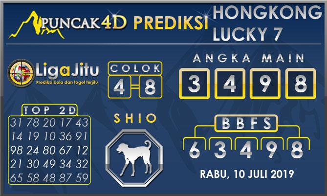 PREDIKSI TOGEL HONGKONG LUCKY7 PUNCAK4D 10 JULI 2019