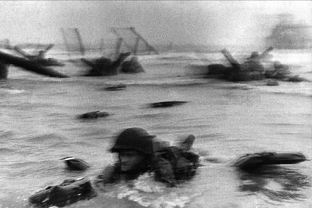 Soldier going ashore on D-Day
