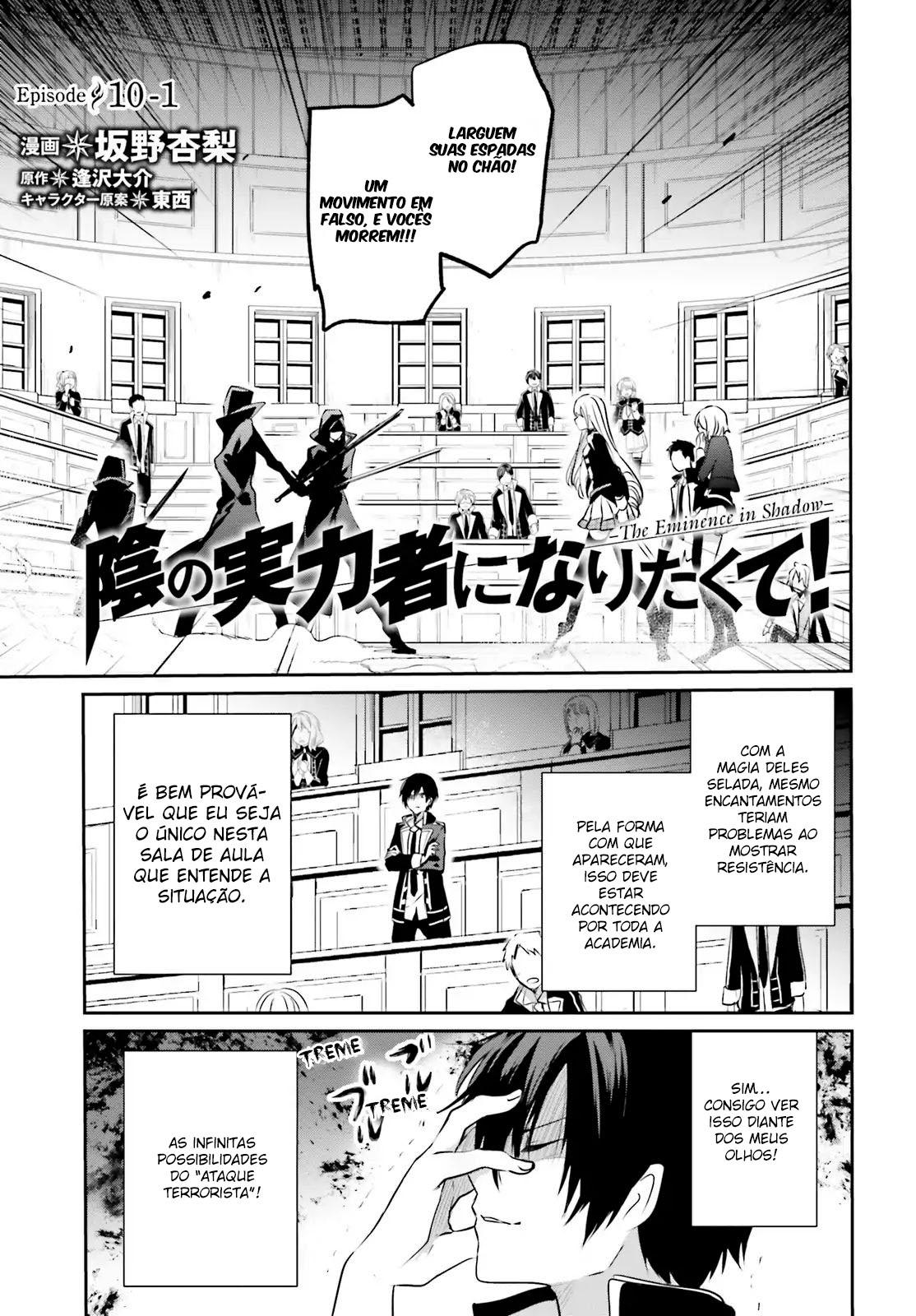 Kage no Jitsuryokusha ni Naritakute / The Eminence In Shadow Mangá Online Capítulo 10-1 em PT-BR
