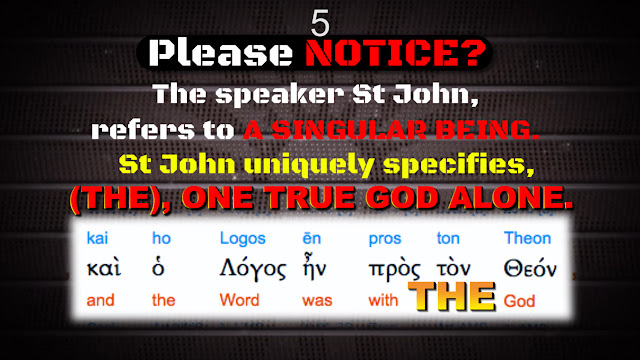 In the Greek text of John 1:1 C, we have the (DEFINITE) article (THE, Greek word: τὸν), which identifies and defines THE difference between the word and (THE τὸν) GOD.