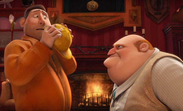 The Mayor (voiced by Bobby Moynihan) hates to hear bad news in THE NUT JOB 2: NUTTY BY NATURE (2017)