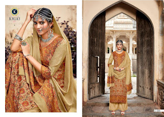 Kalki Fashion Gulmohar Vol 2 Kashmiri Work Pashmina Collection