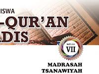 Buku Siswa Al Quran Hadis Kelas 7 MTs Sesuai KMA 183 Tahun 2019