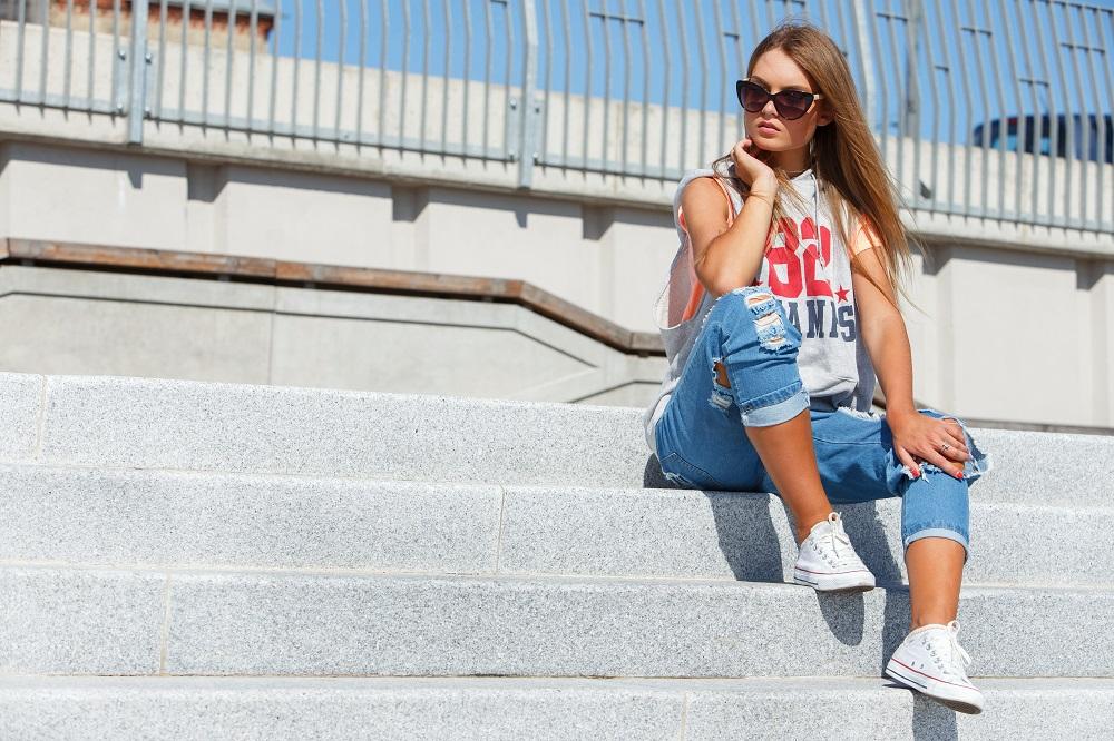 Calça jeans no verão
