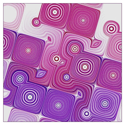 Many interesting circles and swirls that was created with creative coding.