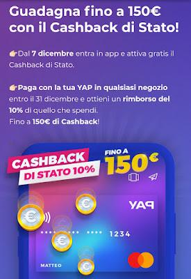 Yap: Buoni Amazon fino a 20€ + Iscrizione Cashback di stato senza SPID e app IO Screen-cashback-stato-yap